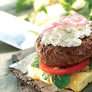 Boursin Artisan Burger with Boursin Pepper Cheese