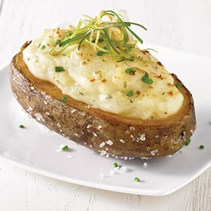 Twice-baked Potatoes with Boursin Shallot & Chive Cheese